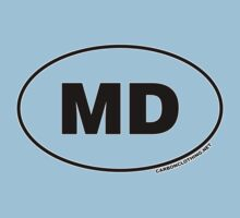 Maryland MD Euro Oval Sticker by CarbonClothing