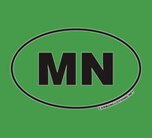 Minnesota MN Euro Oval Sticker Kids Clothes