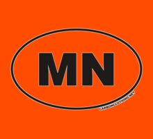 Minnesota MN Euro Oval Sticker by CarbonClothing