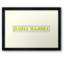 Wayne's World - Babia Majora Framed Print