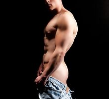 42365c Nude Male by PrairieVisions