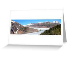 Panoramic Salmon Glacier Greeting Card