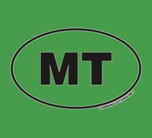 Montana MT Euro Oval Sticker by CarbonClothing