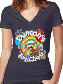 Duncan's Toy Chest Women's Fitted V-Neck T-Shirt