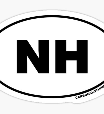 New Hampshire NH Euro Oval Sticker Sticker