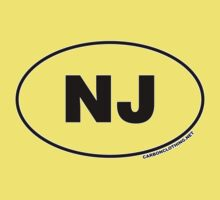 New Jersey NJ Euro Oval Sticker Kids Clothes