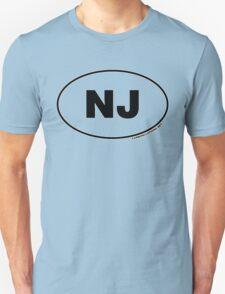 New Jersey NJ Euro Oval Sticker T-Shirt