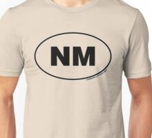 New Mexico NM Euro Oval Sticker Unisex T-Shirt