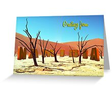 Greetings from Namibia Greeting Card