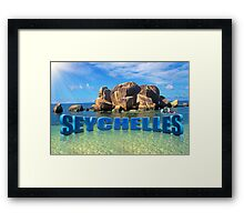 Greetings from Seychelles Framed Print