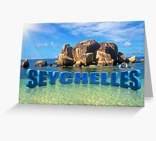 Greetings from Seychelles Greeting Card
