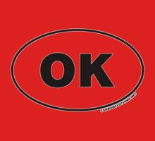 Oklahoma OK Euro Oval Sticker by CarbonClothing