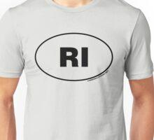 Rhode Island RI Euro Oval Sticker Unisex T-Shirt
