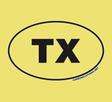 Texas TX Euro Oval Sticker by CarbonClothing