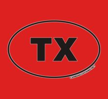 Texas TX Euro Oval Sticker Kids Clothes