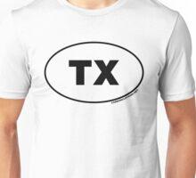 Texas TX Euro Oval Sticker Unisex T-Shirt