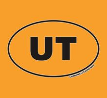 Utah UT Euro Oval Sticker by CarbonClothing