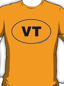 Vermont VT Euro Oval Sticker T-Shirt