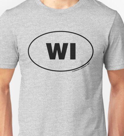 Wisconsin WI Euro Oval Sticker Unisex T-Shirt