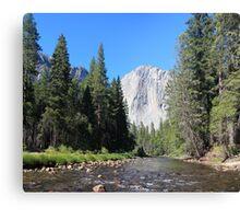 River to El Capitan Canvas Print