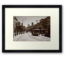 Tram and tramway Framed Print