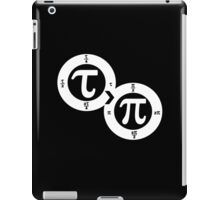Tau vs Pi (dark) iPad Case/Skin