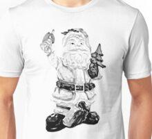 Santa Claus Carving. Christmas and Holiday Digital Engraving Image Unisex T-Shirt