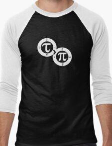 Tau vs Pi (dark) Men's Baseball ¾ T-Shirt