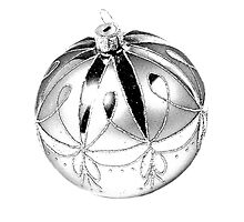 Sparkly Christmas Ornament. Christmas and Holiday Digital Engraving Image by digitaleclectic