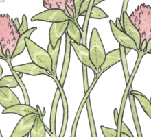 Red Clover All Over Sticker