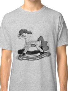 Rocking Horse Christmas Ornament. Christmas and Holiday Digital Engraving Image Classic T-Shirt