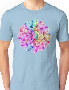 Rainbow Watercolor Paisley Flower Unisex T-Shirt