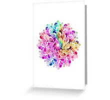 Rainbow Watercolor Paisley Flower Greeting Card