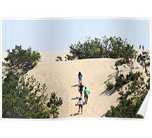 Climbing the Dunes Poster