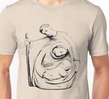 Christmas Nativity Scene. Christmas and Holiday Digital Engraving Image Unisex T-Shirt