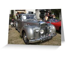 1955 Alvis TC21 Grey Lady Vintage Car Greeting Card