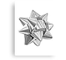 Christmas Bow. Christmas and Holiday Digital Engraving Image Canvas Print