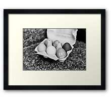 """Eat Me"" Easter Eggs Framed Print"