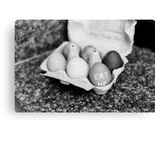 """Eat Me"" Easter Eggs Canvas Print"