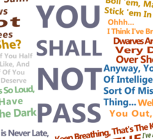 The Lord Of The Rings Quotes Sticker