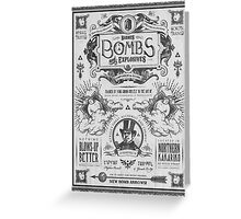 Legend of Zelda Barnes Bombs Vintage Ad Greeting Card