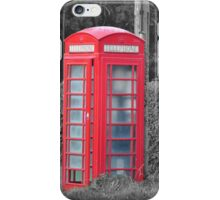 Red Phone Box iPhone Case/Skin