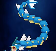Blue Gyarados by etall