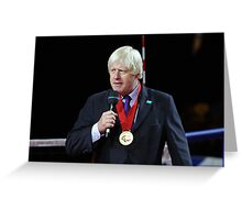 Boris Johnson receives the Paralympic order from the IPC Greeting Card