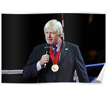 Boris Johnson receives the Paralympic order from the IPC Poster