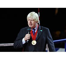 Boris Johnson receives the Paralympic order from the IPC Photographic Print