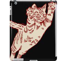 Flying Cat in Cream & Maroon  iPad Case/Skin