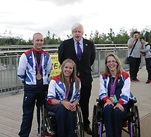 Boris Johnson at the National Paralympic Day by Keith Larby