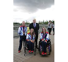 Boris Johnson at the National Paralympic Day Photographic Print