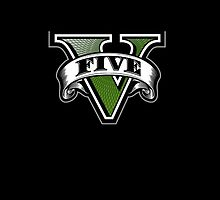 Grand Theft Auto V Emblem (Black Case) by Cody Ayers